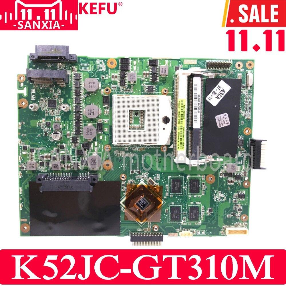 KEFU K52JC mère D'ordinateur Portable pour ASUS K52JC K52JT K52JR Test carte mère d'origine GT310M