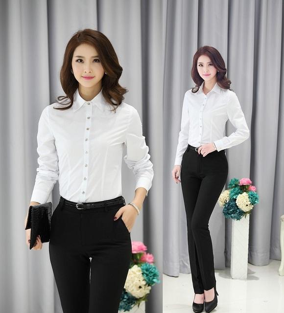 Novo 2015 Primavera Outono Desgaste do Trabalho de Escritório de Negócios Profissional Ternos Com Calça E Blusas Uniformes Pantsuits Formais Calças Definidos