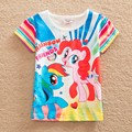 Retail! NEAT Kids 2014 new free shipping summer baby girls short sleeve t-shirts children clothing kids wear 18M/6Y G6138#