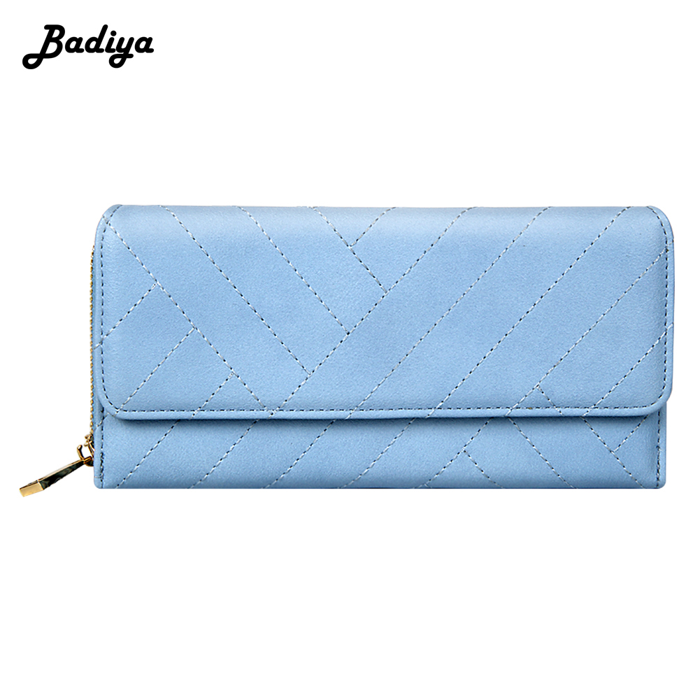 New Women Fashion Long Tir-fold Wallet Solid Phone Case Ladies Daily Clutch Coin Purse Money Bag Card Holder Female Carteira new big brothers money cigarette card case box holder