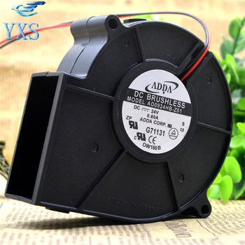 AB0924HB-Z01 DC 24V 0.6A 9733 9CM 97*97*33mm 2 Wires Turbofan Blower Cooling Fan