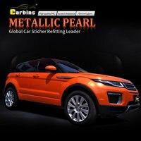 Металлик Pearl конфеты оранжевый винил Wrap автомобиля стикер щит мода автомобиль укладки рекламы