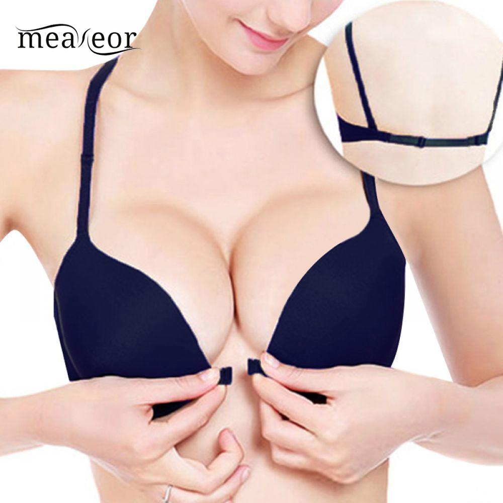 Buy Spring Fashion Sexy Front Buckle Underwire Chest Push Small Summer Female Underwear Bra Seamless Bra Girls's Bra Button