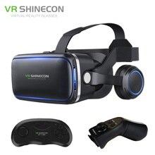 Shinecon VR 6.0 G04E Google Cardboard 3D Virtual Reality Glasses Headset Immersive Helmet Head Mount For 4-6′ Phone + Gamepad