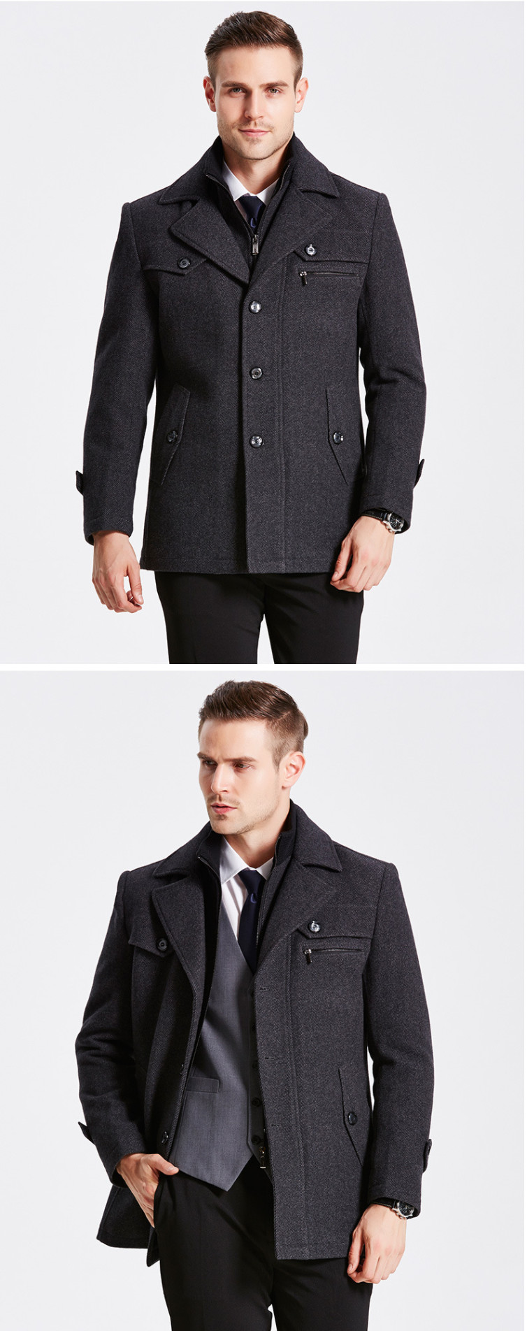 HTB10GioeYYI8KJjy0Faq6zAiVXaX New Winter Wool Coat Slim Fit Jackets Mens Casual Warm Outerwear Jacket and coat Men Pea Coat Size M-4XL DROP SHIPPING