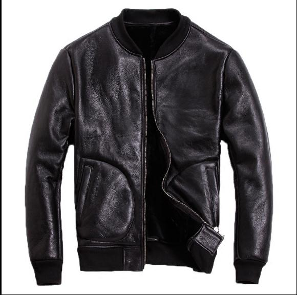 Free Shipping.Classic Sheepskin Leather Jacket.Brand New Sheep Shearling Coat.mens Winter Warm Jackets.thick Wool Clothes