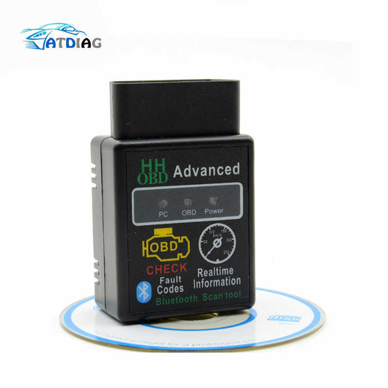 HH OBD OBD2  ELM327 Bluetooth OBDII CAN BUS Check Engine Car Auto Diagnostic Scanner Tool Interface Adapter  For Android PC