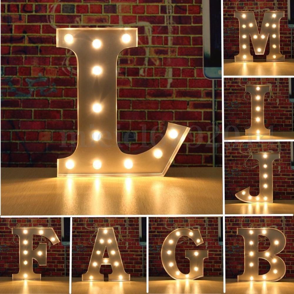 Wooden Led Lights Decoration Letter A