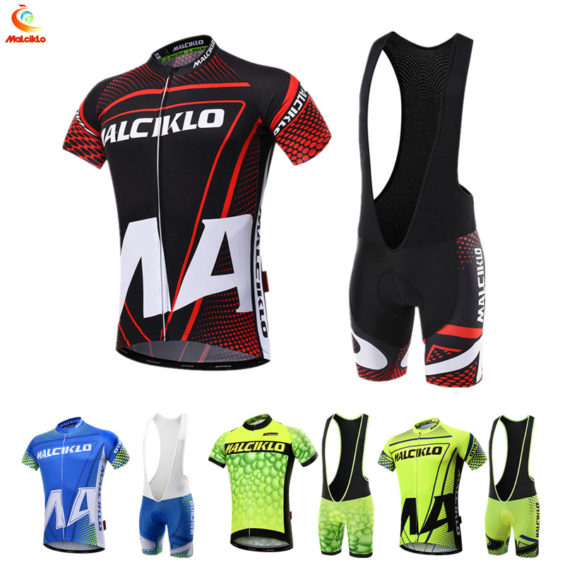 Malciklo 100 Polyester Breathable Cycling Jersey set MTB Bicycle Wear Racing Bike Clothing Cycling Sportswear Ropa