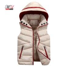 MLinina женский зимний жилет жилеты 2018 кардиганы для женщин куртка повседневное тонкий зима теплая без рукавов мужские парки верхняя одежда