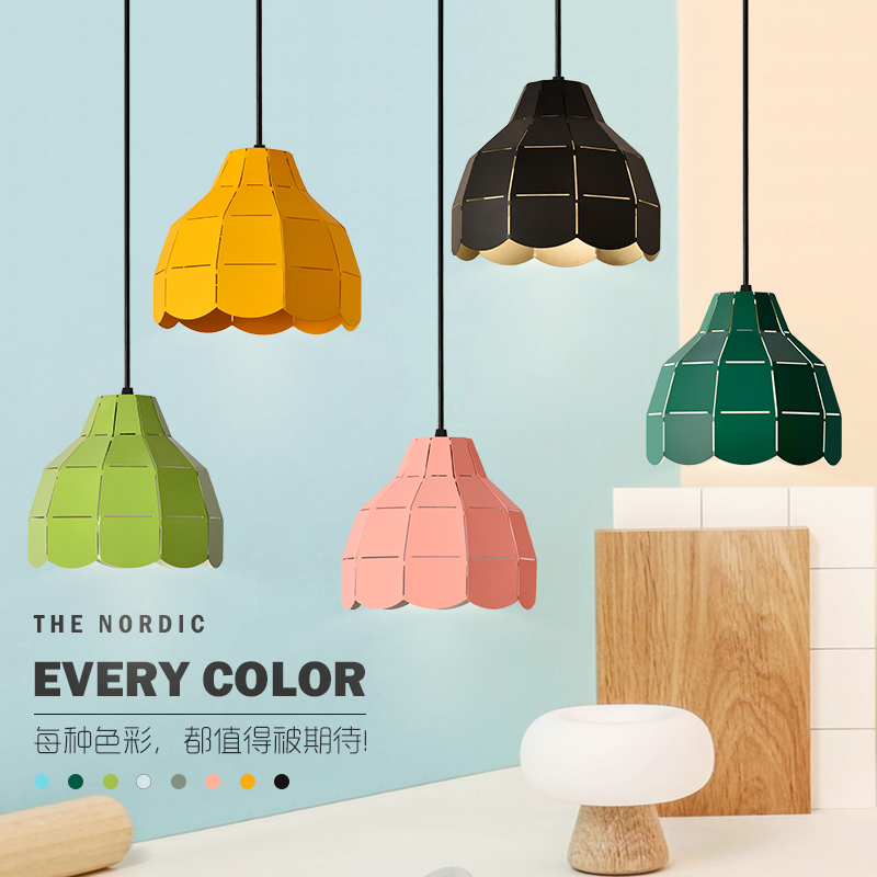 Nordic style iron color pendant light colorful shade iron wood lamp hang lighting living dinning room restaurant hotelNordic style iron color pendant light colorful shade iron wood lamp hang lighting living dinning room restaurant hotel