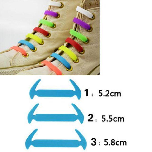 12 יח'\סט חדש רצועת נעל אלסטי לא סיליקון שרוכי נשים גברים שרוכי מיתרים