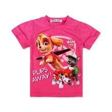 New baby T-shirt for Girls 2 3 4 5 6 7 8 Years Girls Short Sleeve Cartoon Dog Cotton Shirt Children T Shirt for Summer 2017 202C