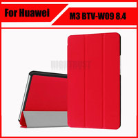 3 in 1 Stand Smart PU Leather Cover for Huawei MediaPad M3 BTV-W09 BTV-DL09 8.4