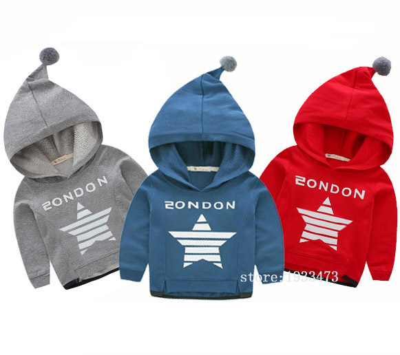 2016 High qualit Kids sweatshirts hoodies cotton Fashion Leisure star Magic hat Coat boys girl clothing clothes  bape