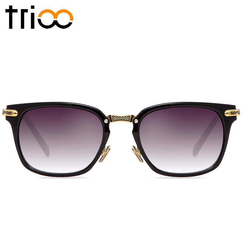 TRIOO Male Sunglasses Gold Metal Cool Sun Glasses For Men Fashion ...