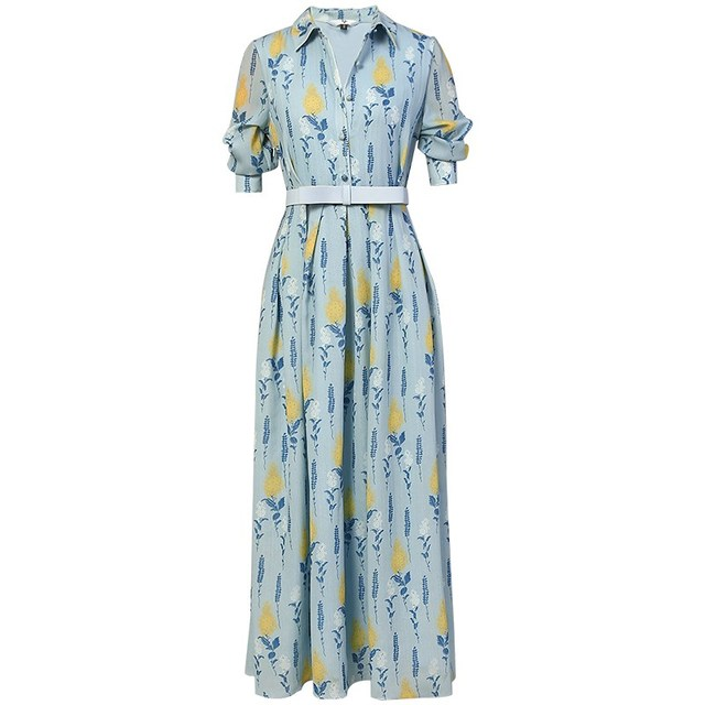 f5056f622b Summer Holiday Long Bohemian Beach Dress 2018 Women Elegant Vintage V-neck  Short Sleeve Floral Printed Chiffon Maxi Dress