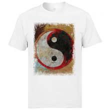 Good Quality Tees Pure Cotton Slim Fit Tops Printed Yin Yang Tai Chi RED DRAGON T-Shirts For Men Homme Camisetas
