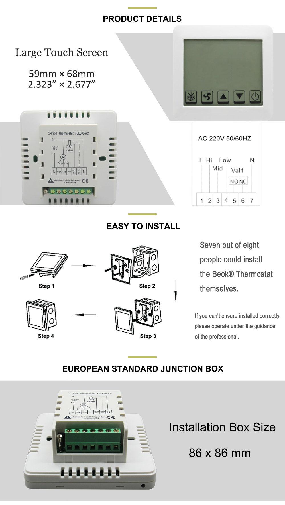 Gemütlich Programmierbarer Thermostat Mit Zwei Drähten Galerie ...