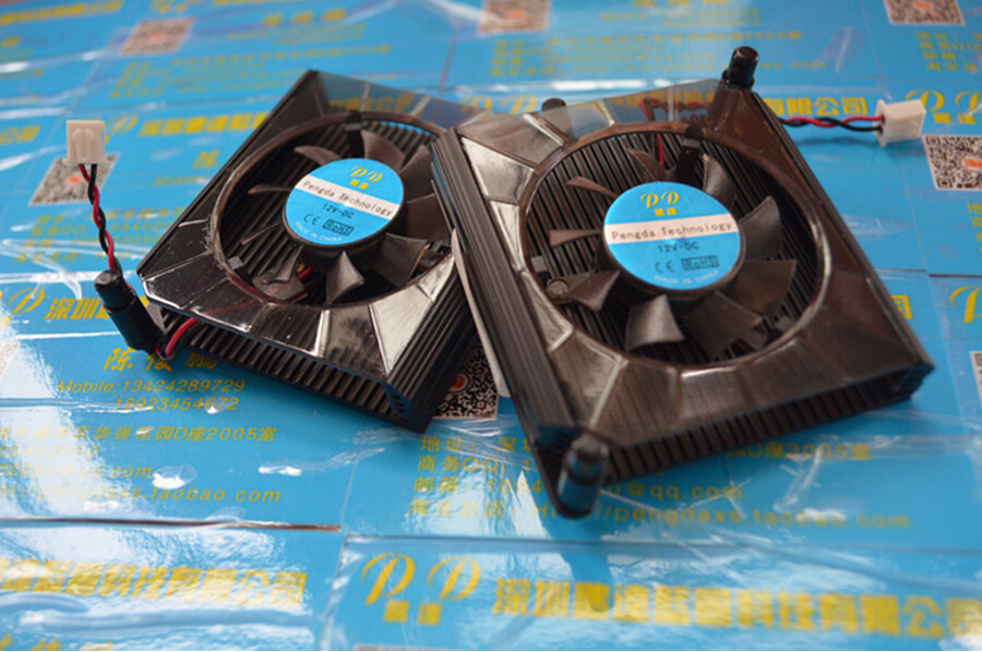 NEW 60MM 80mm pitch fan 60*58*13MM DC12V 0.08A Graphics card fan with heat sink 2pin