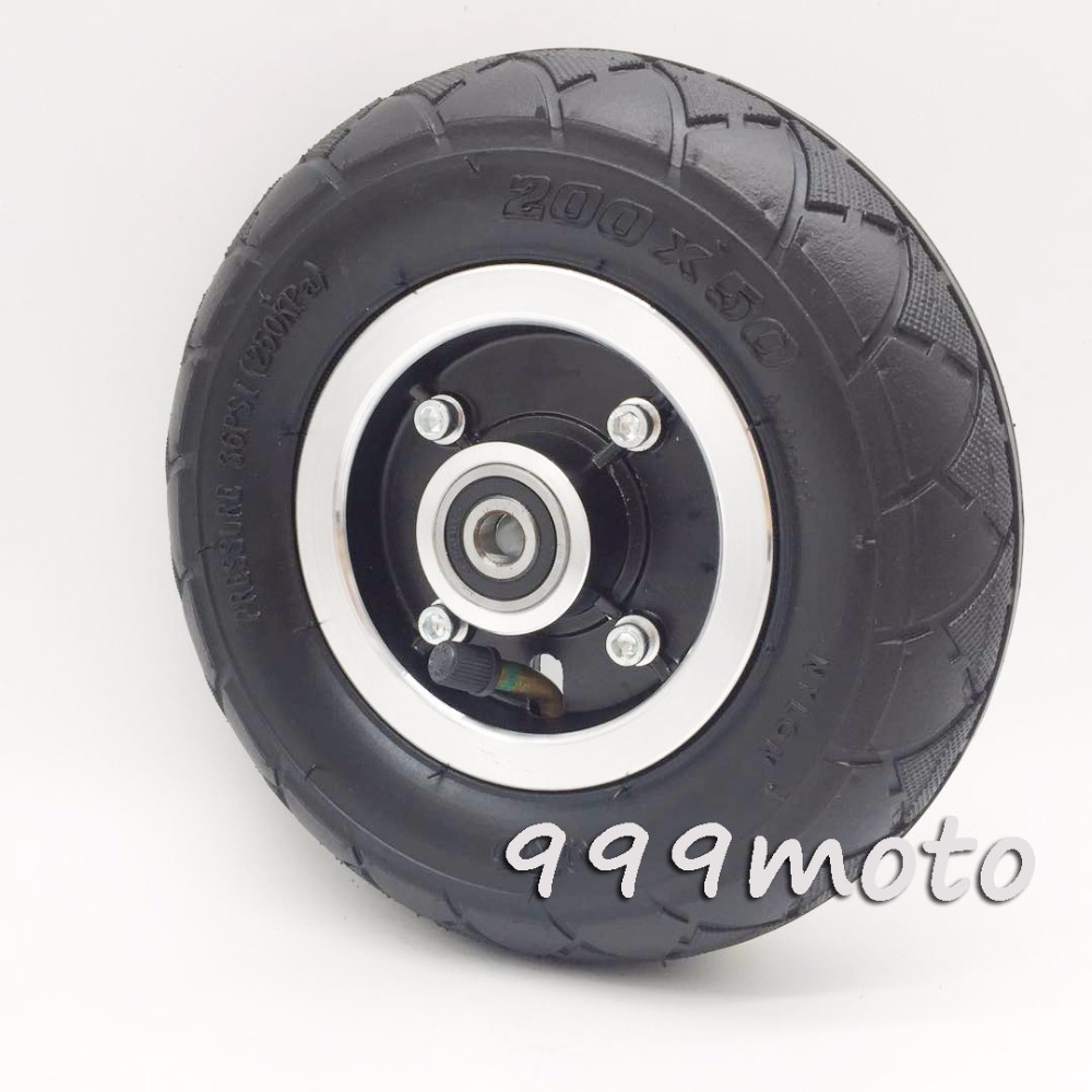 Electric Scooter Tyre With Wheel Hub 8 Scooter 200x50 Tire Inflation Electric Vehicle Aluminium Alloy Wheel Pneumatic Tire