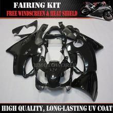 ZXMT Glossy Black Motorcycle Fairing Injection Kit For Honda CBR600 F4I 2001 2002 2003 Bodywork UV light curing paint