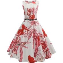 Sleeveless Halter Prom Swing Dress