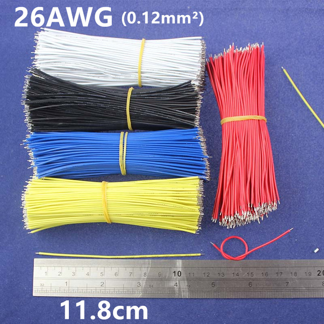 Free Shipping 50pcs pcb solder cable 26AWG 11.8cm Fly jumper wire ...