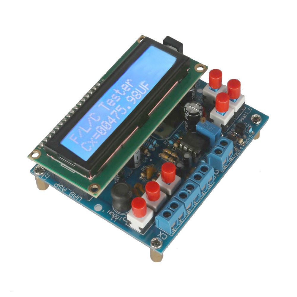 LCD Digital frequency counter Secohmmeter Capacitance Meter DIY Kit Frequency Meter cymometer Inductance Tester frequenzimetro(China)