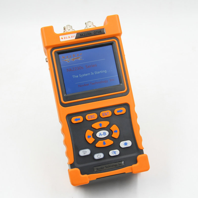 Handheld NK2230S SM OTDR 1310nm/1550nm 30dB/29dB,Integrated VFL,Touch Screen 80-100KM Optical Time Domain Reflectometer VFL