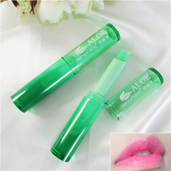Aloe Lip Balm Matte Lipstick Cosmetics Temperature Change Color Lips Balm Moisturizering Lips Care Korean Cosmetics