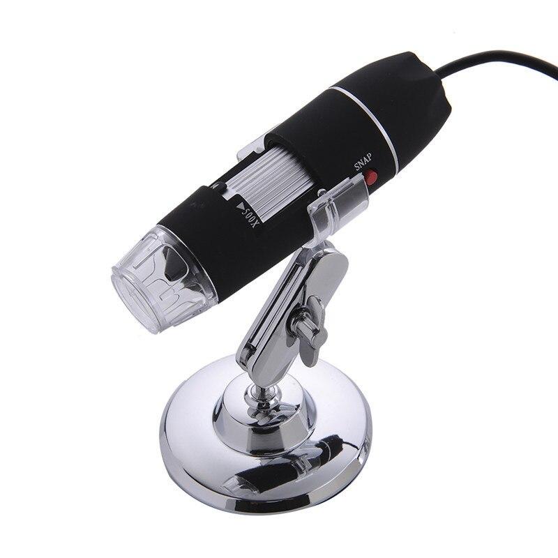 Mega píxeles 500X 1000X 1600X 8 LED Microscopio Digital cámara endoscopio USB Microscopio Electrónico con soporte