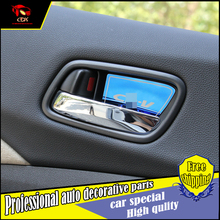 Car styling 4PCS/set Interior door bowl cover trim For Honda CRV 2012-2016 car door bowl interior Decoration Trim Accessories