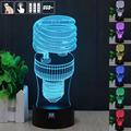HUI YUAN Spiral 3D Night Light RGB Changeable Mood Lamp LED Light DC 5V USB Decorative Table Lamp Get a free remote control