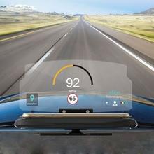 Автомобильный экран 6,5 дюйма HUD, дисплей на голову, автомобильная безопасность, авто gps навигация, держатель для мобильного телефона, проектор, высокое разрешение, отражающий