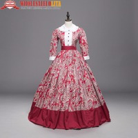 Victorian Gothic Fairy Princess French Rose Ball Gown Period Dress Reenactment Theater Costume