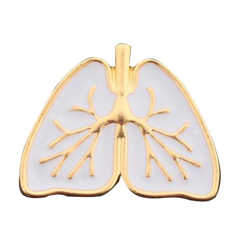 Изделия эмаль контактный медицинская Анатомия человека Органы бело-золотые эмаль Анатомическое Сердце Брошь сердце Broches контакты