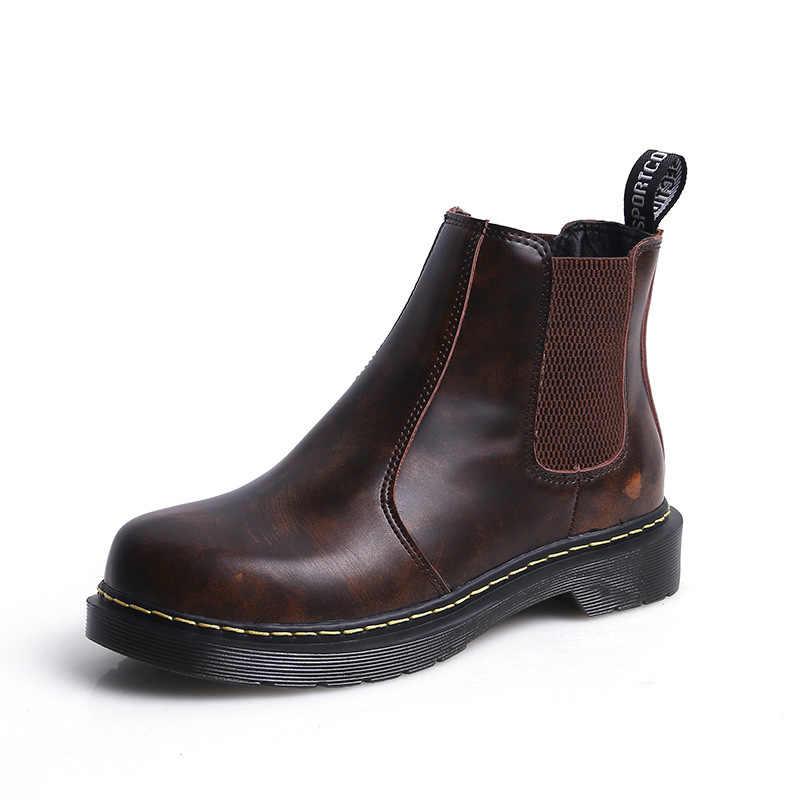 Patik kadın düz öğrenci kalın alt artı kadife çizmeler kadın retro İngiliz rüzgar H-H1803-1