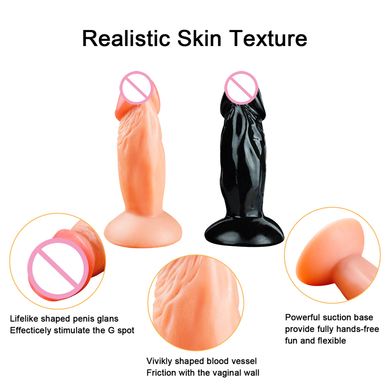 Small Realistic Anal <font><b>Dildo</b></font> Real Skin Vagina Clit Masturbator strapon <font><b>Dildos</b></font> for Women Penis Phallus <font><b>Adult</b></font> erotic <font><b>sex</b></font> <font><b>toys</b></font> Shop image