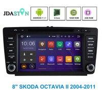 JDASTON 2G+16G Android 7.1.1 Car DVD Player For SKODA OCTAVIA II Bluetooth SWC WIFI GPS Navigation Radio Multimedia Auto Audio