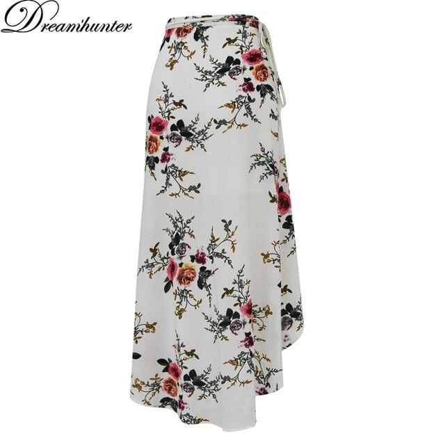 Estampado de flores de Verano Falda Larga de Las Mujeres Vestido Lateral de  Split Beach Wear 83f1bbe6c9a6