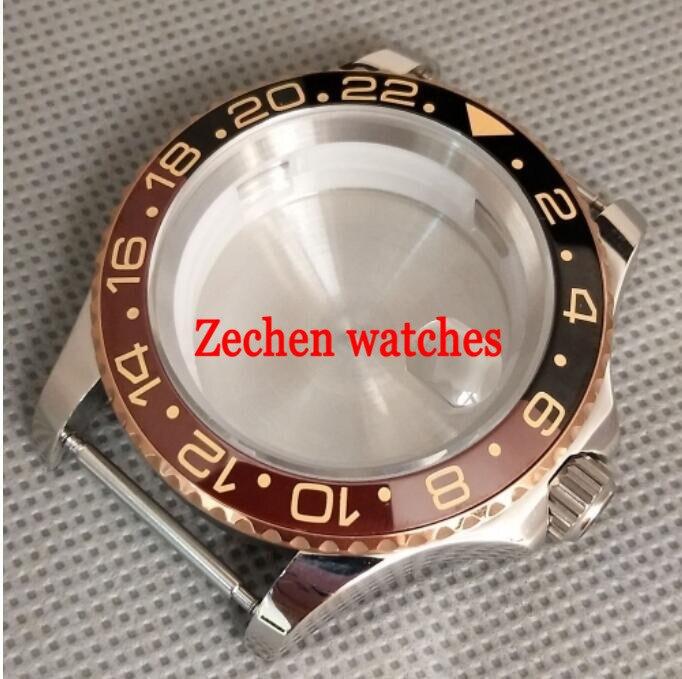 40mm Watch Case Bezelx1 Fit ETA 2836,Miyota 8205/8215,DG2813/3804 42mm pvd coated case black aluminum alloy bezel watch case fit eta 2824 2836 dg2813 3804 miota 8215 8205 821a movement c18