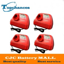 High Quality 4X M12 Li-ion Power tool Battery Charger 10.8V 12V For Milwaukee M12 48-11-24xx Series Lithium-ion Battery