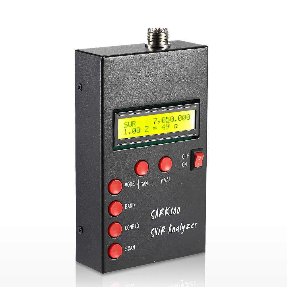 SARK100 1-60MHz HF ANT SWR هوائي محلل متر الدائمة موجة اختبار ل هام راديو الهواة مقاومة السعة قياس
