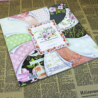 ENOGREETING 12 inch DIY art patroon scrapbooking papier ambachtelijke set zoete hart woorden bloem dot design 1 boek