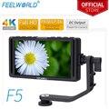 FEELWORLD F5 5 zoll Auf Kamera feld monitor Volle kleine HD 1920x1080 LCD DSLR monitor DC Power Tilt arm für 4K HDMI Eingang Ausgang-in Monitor aus Verbraucherelektronik bei
