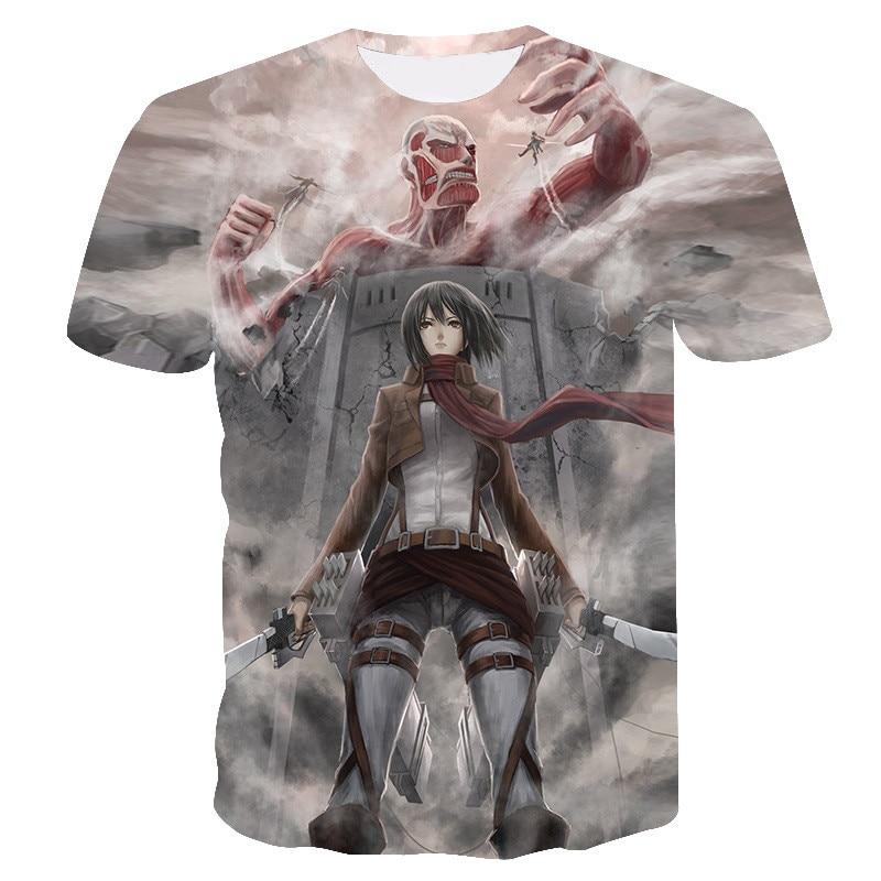 Japanese Anime Summer T-shirt Tshirt Scouting Legion Clothes Shingeki No Kyojin Tee Shirt Attack On Titan Giant Dropship