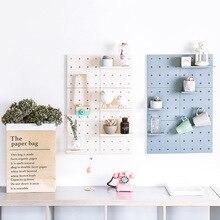 купить Creative Hole Plate Wall Storage Rack Living Room Kitchen Suction Wall Organizers Holders Home Detachable DIY Decor Storage Rack дешево