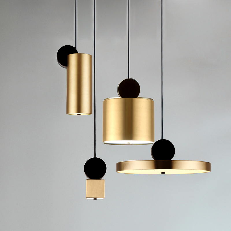 Nordic restaurant chandelier modern minimalist creative personality three head dining table bar bedroom  LL03161017|Pendant Lights| |  - title=