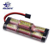 Melasta 8.4V 4200mAh 7 Tế Bào Bướu Gói NiMH Pin với Traxxas Xả Cắm cho RC Xe Đua